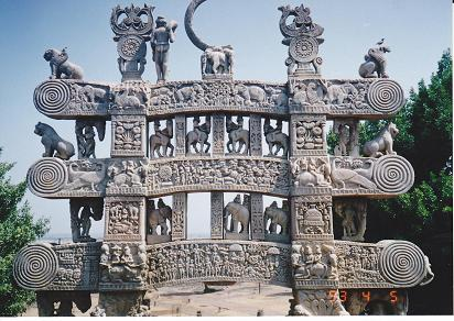 インド サンチ―の仏塔:暇人の独...